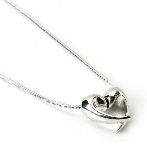Silver Love Heart Necklace by Argent London - Art Jewellery Store: Song of Jewellery