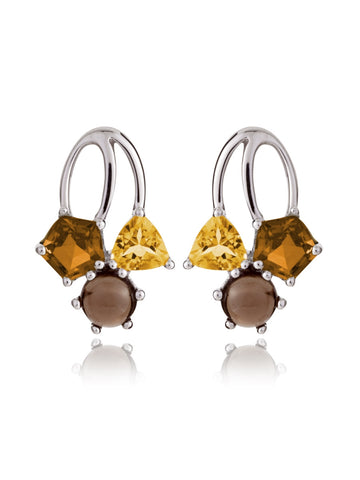 Kintana Cognac Sterling Silver Earrings