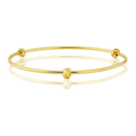 9ct Gold Bangle With Love Knots