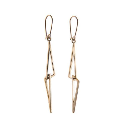 9ct Yellow Gold Linked Earrings by Miriam Wade - Art Jewellery Store: Song of Jewellery