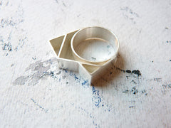 Abstract Geometric Statement Ring by Ana Pina - Art Jewellery Store: Song of Jewellery