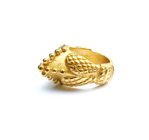 Akan Crown Ring by Rokus - Art Jewellery Store: Song of Jewellery