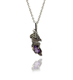 Amethyst Feather Necklace