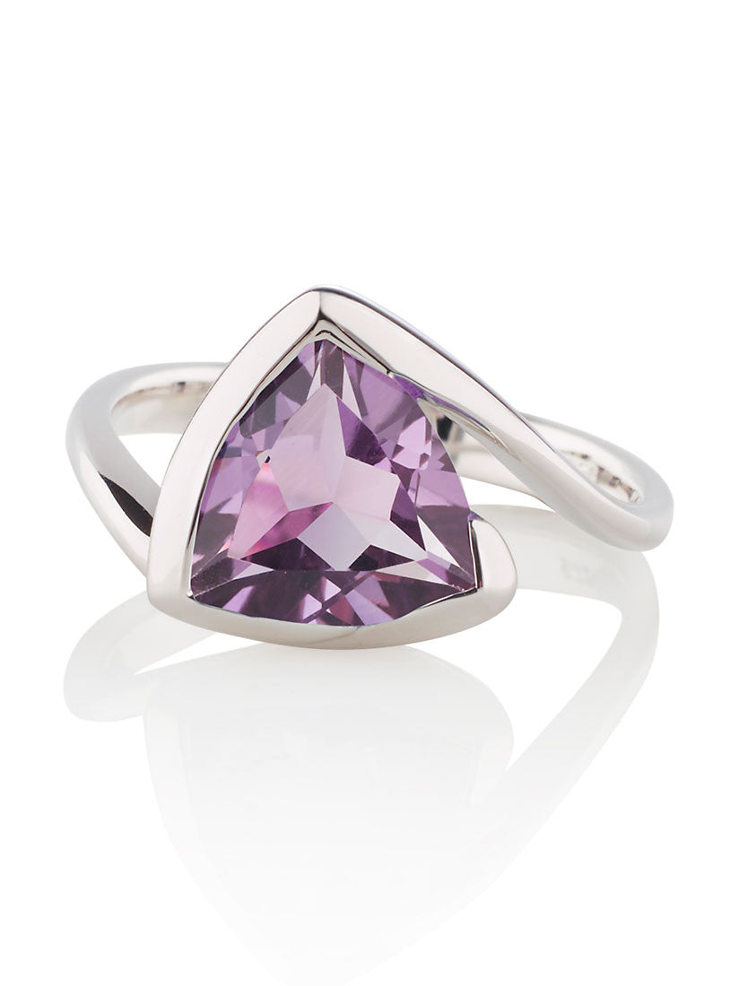 Amethyst Sterling Silver Ring by British Designer MANJA