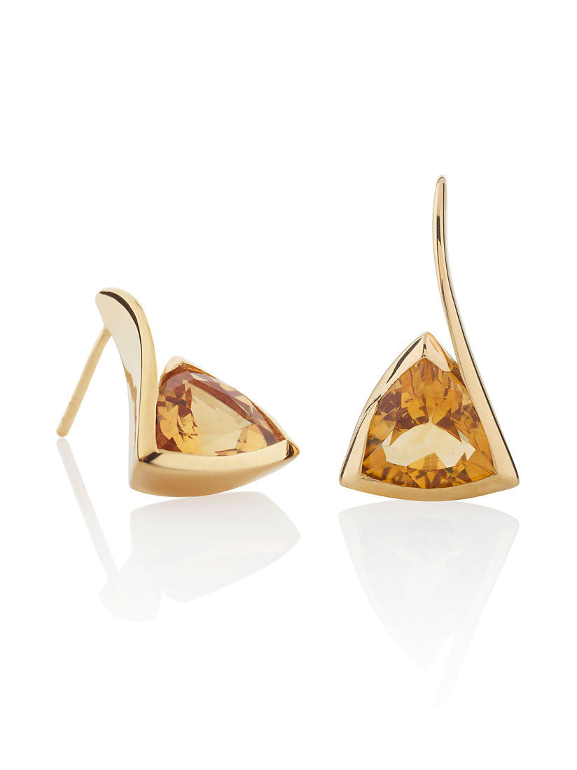 Amore Citrine Gemstone Earrings by Manja - Art Jewellery Store: Song of Jewellery