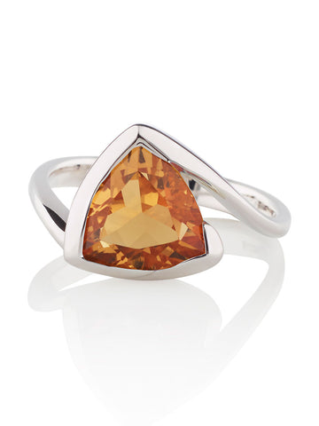 Amore Citrine Sterling Silver Ring