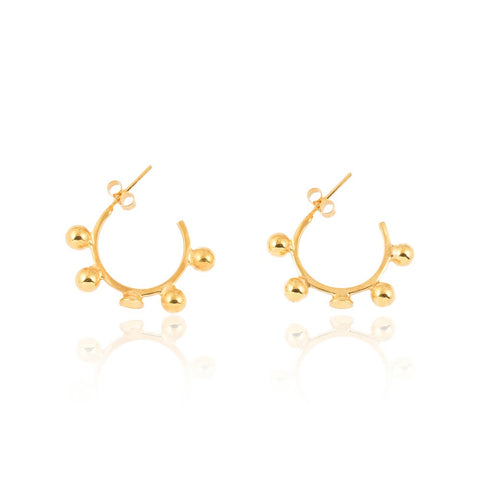 Apogee and Perigee Gold Vermeil Hoop Earrings