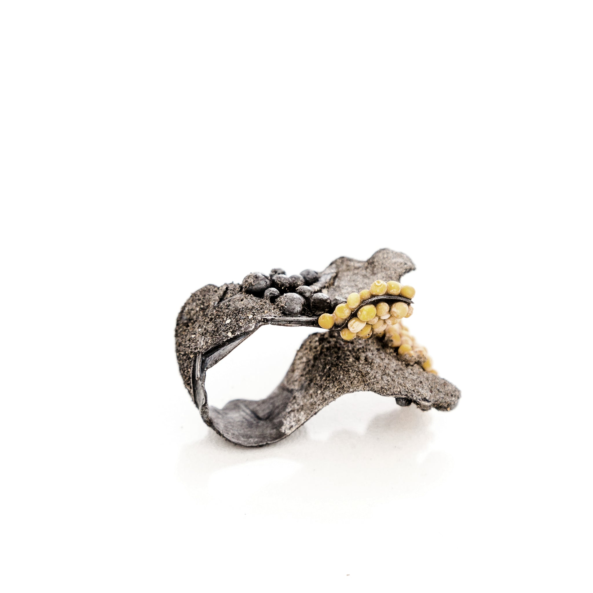 Ascending Mustard Ring by Cleopatra Cosulet - Art Jewellery Store: Song of Jewellery