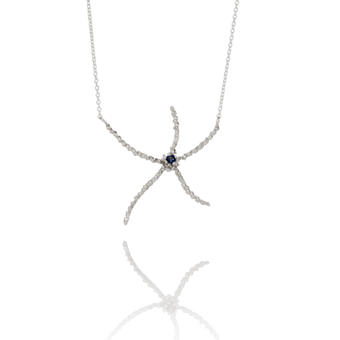 ASTERIAS Silver Ruby Necklace
