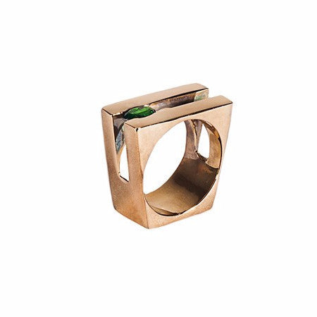 BB64 Square Signature Ring by Co.Ro. Jewels - Art Jewellery Store: Song of Jewellery