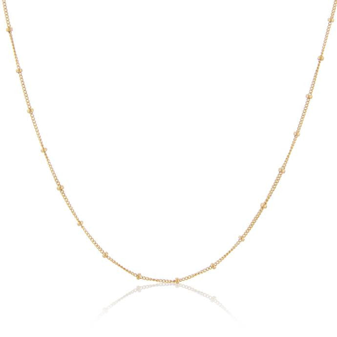 Gold Fill Curb & Bead Chain by Argent London - Art Jewellery Store: Song of Jewellery