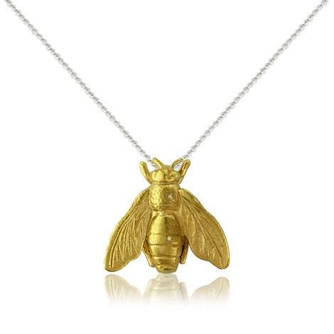 Gold Honey Bee Necklace by Argent London - Art Jewellery Store: Song of Jewellery