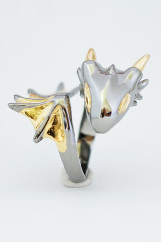 Golden Eyes Dragon Ring by Monvatoo - Art Jewellery Store: Song of Jewellery