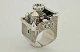 Black Ruthenium Castle Ring by Monvatoo - Art Jewellery Store: Song of Jewellery