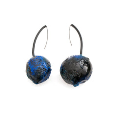 Blue Art Earrings by Cleopatra Cosulet - Art Jewellery Store: Song of Jewellery