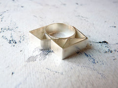 Bold Geometric Design Ring by Ana Pina - Art Jewellery Store: Song of Jewellery