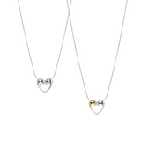 Contemporary british designer jewellery. Heart necklace.