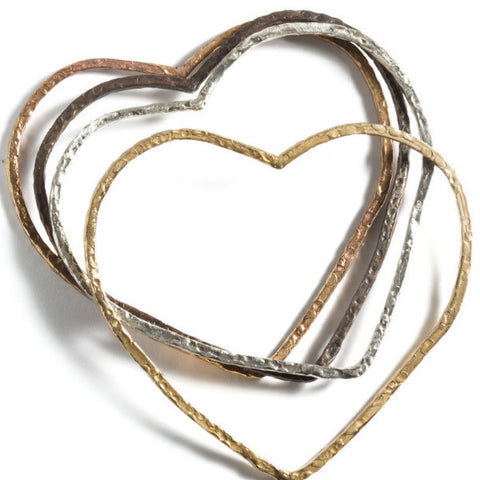 Heart Bangle in Vintage Design
