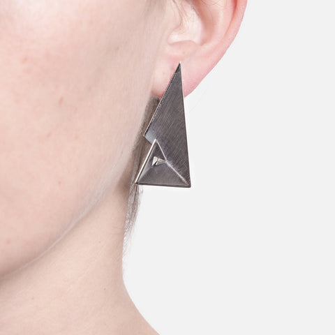 Sterling Silver Geometric Earrings - Golden Ratio III by Vangloria - Art Jewellery Store: Song of Jewellery