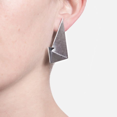 Sterling Silver Geometric Earrings - Golden Ratio II by Vangloria - Art Jewellery Store: Song of Jewellery