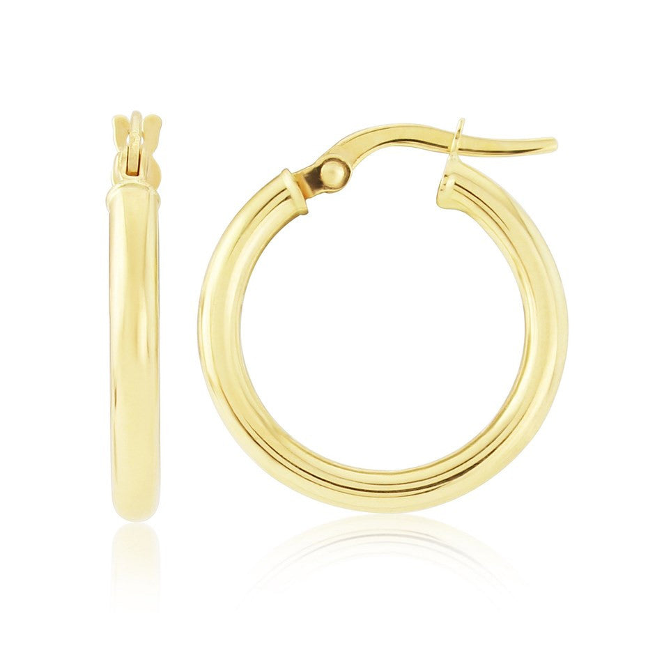 Chelsea 9ct Gold Hoop Earrings by Argent London - Art Jewellery Store: Song of Jewellery
