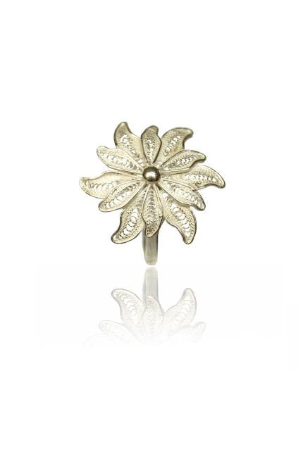 Sterling Silver Filigree Flower Ring by Portuguese Filigree - Art Jewellery Store: Song of Jewellery