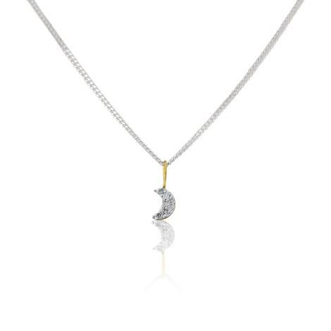 Crescent Moon Pendant by Argent London - Art Jewellery Store: Song of Jewellery