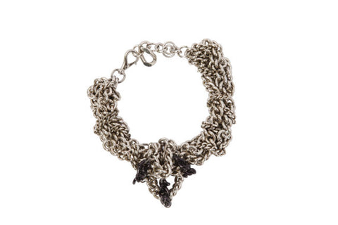 Chunky Chain Choker In High End Industrial Style