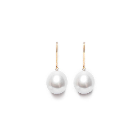 Timeless Pearl Drop Earrings - White