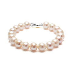 Classic Strung White Pearls Bracelet In Silver or Gold - Large Pearls by ORA - Art Jewellery Store: Song of Jewellery