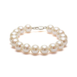 Classic Strung White Pearls Bracelet In Silver or Gold - XL Pearls