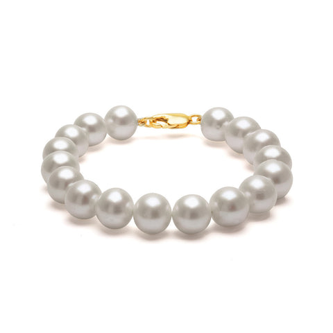 Classic Strung Grey Pearls Bracelet In Silver or Gold - XL Pearls