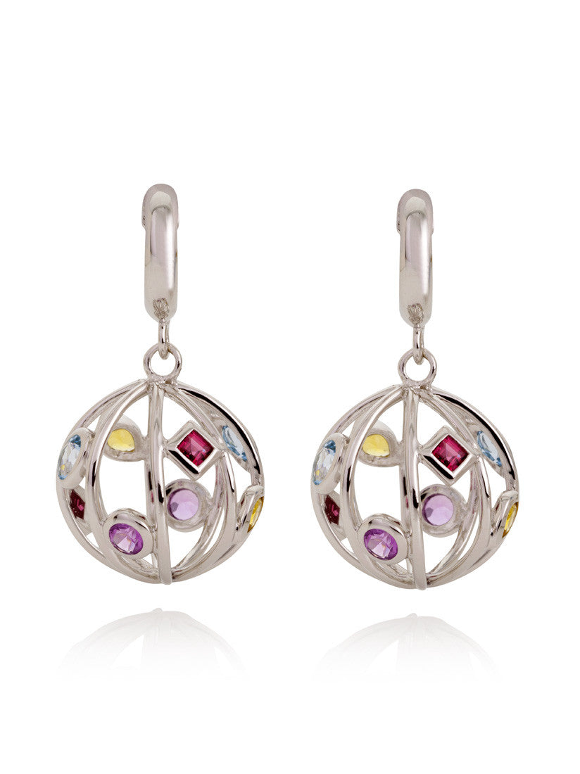 Divotra Gemstone Earrings by Manja - Art Jewellery Store: Song of Jewellery