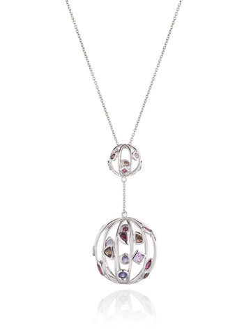 Divotra Purple Shades Gem Necklace