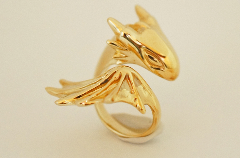Golden Dragon Ring by Monvatoo - Art Jewellery Store: Song of Jewellery