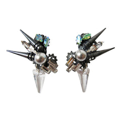 Dune Statement Spike Earrings