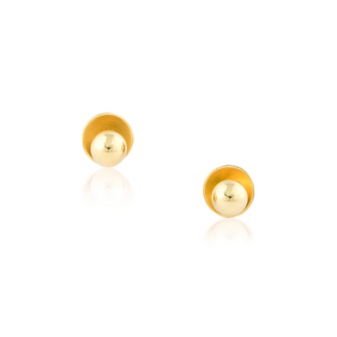 Luna Ball Dome Ear Studs
