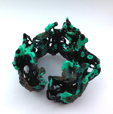 Eroded Plastic Bracelet by Corrina Goutos - Art Jewellery Store: Song of Jewellery