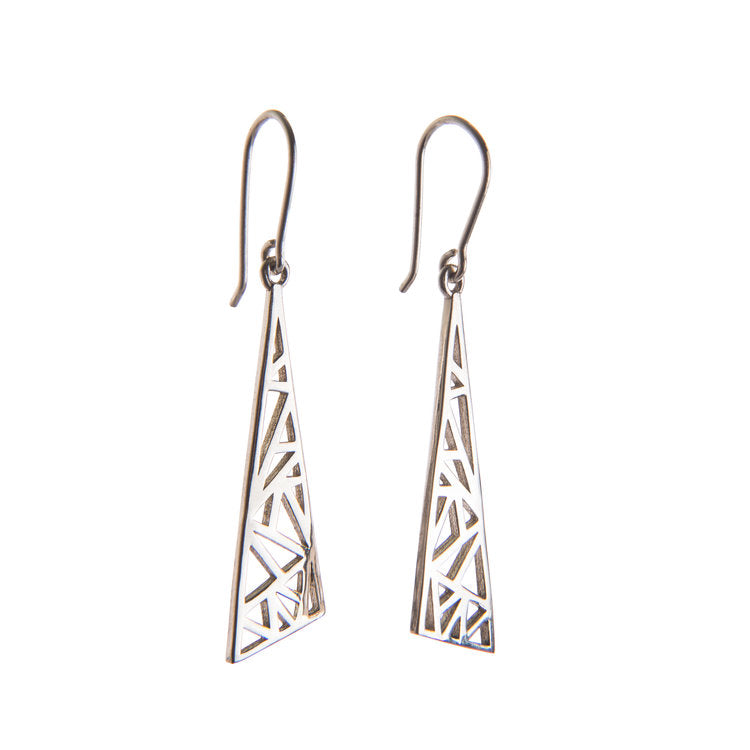 Sterling Silver Flare Earrings by Miriam Wade - Art Jewellery Store: Song of Jewellery