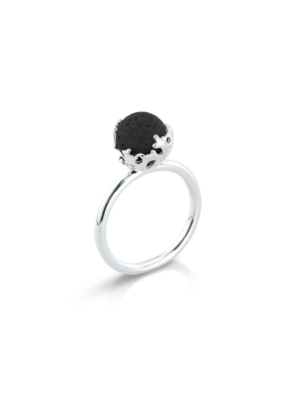 Lava Stone Silver Ring - Earth Inspired Jewellery Style