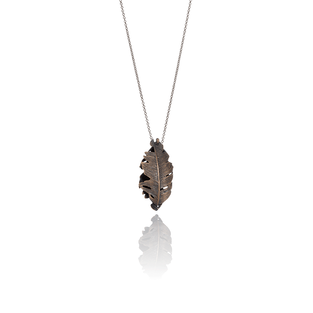 Falcon Double Feather Necklace
