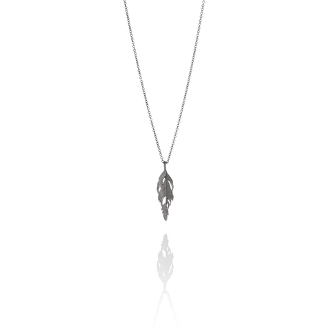 Simple Ox Silver Falcon Necklace