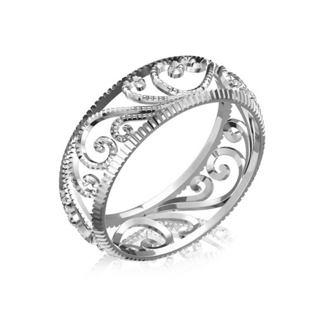 Filigree Platinum Ring by Sebastian Pintea - Art Jewellery Store: Song of Jewellery