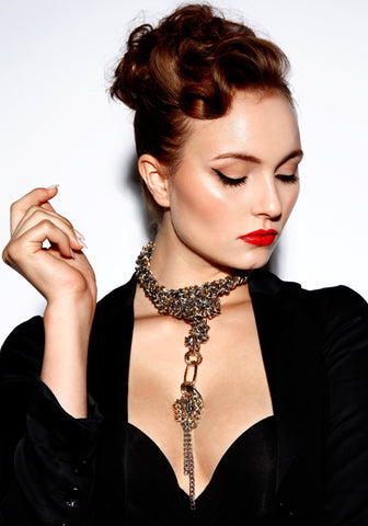 Opulent Statement Chain Choker by Finerblack - Art Jewellery Store: Song of Jewellery