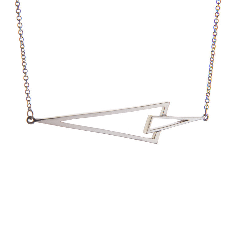Flare Silver Triangle Necklace by Miriam Wade - Art Jewellery Store: Song of Jewellery