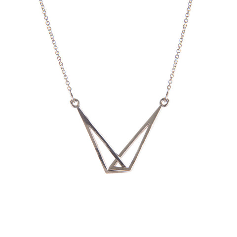 Silver Flare Linked Necklace