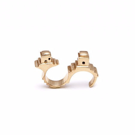 Fornillo Two Finger Statement Ring
