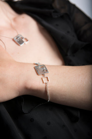 Fusion Silver Square Bracelet by Miriam Wade - Art Jewellery Store: Song of Jewellery