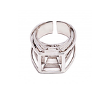 Prospettiva Geometric Sterling Silver Ring by Co.Ro. Jewels - Art Jewellery Store: Song of Jewellery
