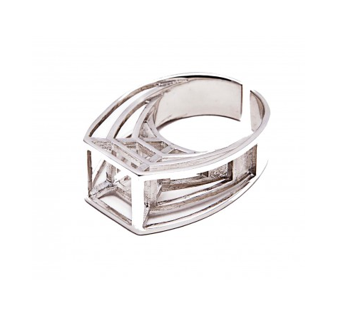 Unique designer ring by Italian label Co.Ro. Jewels.